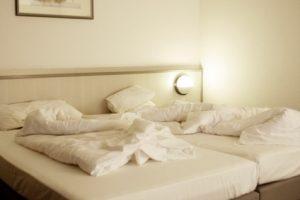 Schlafzimmer putzen und Bett reinigen