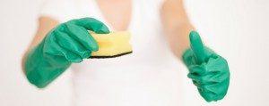 Gummihandschuhe zum Putzen im Haushalt