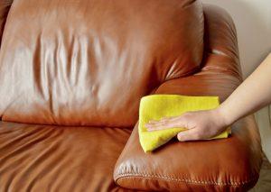 Ledersofa reinigen und pflegen